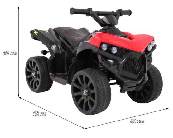 ELEKTRILINE ATV 6V -PUNANE